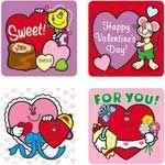 Stickers Valentines Day 120/Pk Acid Lignin Free
