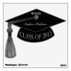 Class of 2013 Graduation Name School Wall Decal