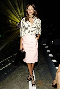 Alexa Chung attends the Marc By Marc Jacobs Spring 2015 Front...