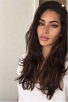 New Hair Long Dark Brown Eyebrows Ideas Hair Inspo, Hair Inspiration, Character Inspiration, Brown Hair Colors, Trendy Hairstyles, Weave Hairstyles, Long Brown Hairstyles, Modern Haircuts, Wedding Hairstyles