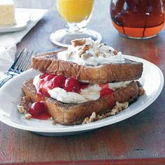 Colonial Stuffed French Toast | This delicious recipe from Colonial Pancake House lends itself to fruit fillings, but you might also experiment with chocolate chips or even crumbled sausage. | SouthernLiving.com