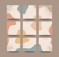 Abstract organic shapes background for s... | Premium Vector #Freepik #vector #background #floral #abstract #social-media Puzzle Logo, Puzzle Frame, Grid Puzzles, Shape Puzzles, Instagram Grid, Instagram Design, Floral Watercolor Background, Vintage Floral Backgrounds, Photo Collage Template