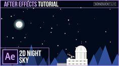 After Effects Tutorial: 2D Space Nighttime Scene | Kurzgesagt Inspired