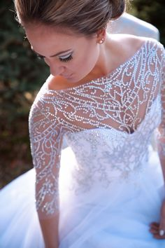 sparkle top wedding dress