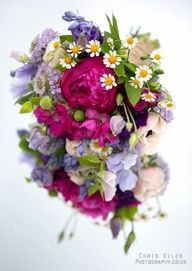 Bouquet of vibrant flowers on a mirror pinned with Bazaart