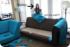 My Slipcovered Sectional And A Giveaway. Sectional Sofa SlipcoversSectional  ...