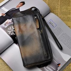 8f884312b811d Vintage Genuine Leather 13 Card Slots Long Wallet Phone Bag For Men sales  at a wholesale price. Come to Newchic to buy a wallet