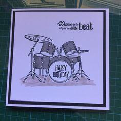Stamped drum kit card
