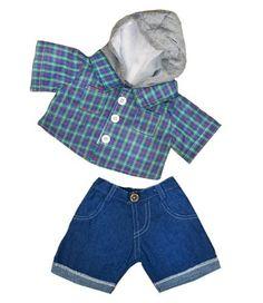 Arm Patch Hat NEW Build A Bear Clothes Jockey Uniform 4 pc Set Pants Shirt
