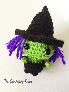Kawaii Crochet Halloween Witch Amigurumi by TheCrochetingRaven