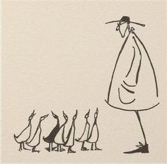 """Getting All His Ducks In A Row. Sam Toft (I want a tattoo that has all my """"ducks in a row"""", something like this maybe minus the guy on the right? Drawing Sketches, Art Drawings, Sketching, Arte Sketchbook, Aesthetic Art, Art Inspo, Painting & Drawing, Line Art, Illustrators"""