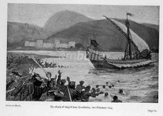 The flight of Argyll from the Battle of Inverlochy, 1645