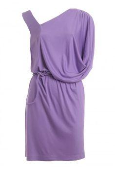 vestido drapeado assimétrico