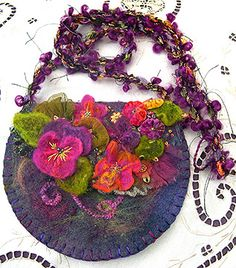 Hand Crafted Wool Floral Bag