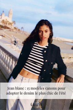 Si le jean est, depuis des années, un incontournable du vestiaire mixte, son cousin germain le jean blanc, résolument chic, est aussi l'un de ces nouveaux basiques que l'on porte de toutes les saisons. Avec des escarpins tressés dorés pour une soirée d'été ou des Birk pour une dégaine casual à souhait... Découvrez les 15 paires de jeans blancs les plus canons du moment pour adopter la tendance denim immaculée cet été !