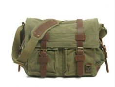 Army Green Canvas Leather Camera Bag Leisure Shoulder Bag Messenger Bag DSLR Camera Bag 2138 ********************************************** We use selected thick cotton waxed canvas, quality hardware Canvas Messenger Bag, Messenger Bag Men, Leather Camera Bag, Leather Crossbody Bag, Crossbody Bags, Satchel Bag, Leather Bags, Cow Leather, Dslr Camera Bag