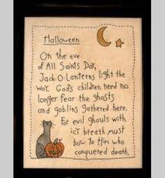 Halloween/Christian poem