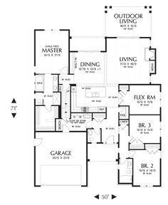 Great ranch style floor plan