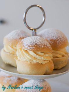 Marlene's sweet things: Ofenberliner mit Vanillecreme