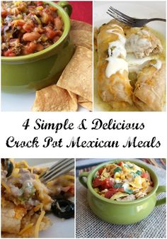 Spice things up for dinner with the help of your slow cooker. These 4 Crock Pot Mexican Meals are simple and delicious.