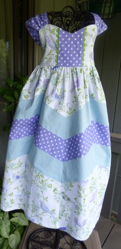 Little girls maxi length dress by EmelineDesign on Etsy
