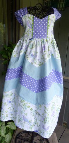 Little girls maxi length dress by EmelineDesign on Etsy