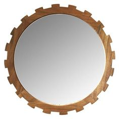 Master's Collection Large Gear Mirror in Teak design by Selamat