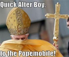 so whoever made this spelled altar incorrectly, but this nevertheless is MOST glorious <3 you benedict XVI