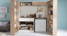 La kitchenette combine électroménager et rangements dans un même meuble et reste la solution gain de place dans une petite cuisine. Choisissez la mini cuisine qui convient le mieux à vos besoins parmi ces modèles tendance