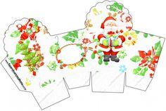 Santa en Fondo Verde: Cajas para Imprimir Gratis. | Ideas y material gratis para fiestas y celebraciones Oh My Fiesta!