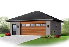 Contemporary Garage Plan 65398