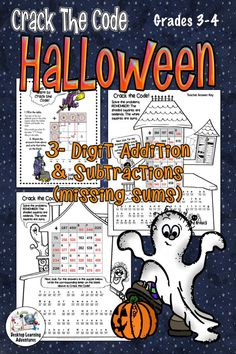 If You're Looking For Some Halloween Addition and Subtraction Math Fun, You've Found It These Two Halloween Crack The Code Activities Are A Popular Choice For Your Math Centers. Children Won't Give Up Until They've Solved The Puzzles And Will Beg You For Teaching Strategies, Teaching Math, Teaching Ideas, Math Classroom, Classroom Activities, Classroom Ideas, Kids Math Worksheets, Math Resources, Halloween Math