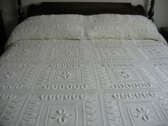 This is very pretty, but doubt I'd EVER get done with it! Ravelry: Bedspread (Counterpane with Leaves) pattern by A.M.