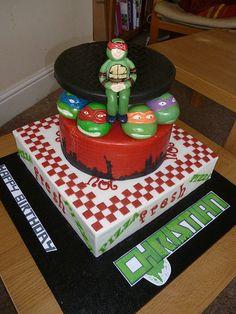 Teenage Mutant Ninja Turtle Cake TMNT Turtle Birthday Parties, Ninja Turtle Birthday, Ninja Turtle Party, Birthday Ideas, Birthday Boys, Birthday Cakes, Tmnt Cake, Cupcakes, Teenage Mutant Ninja Turtles
