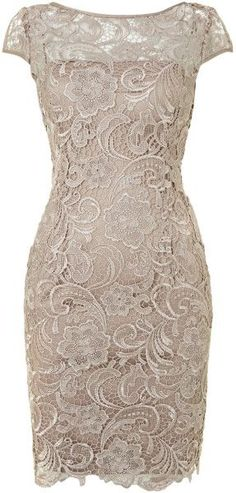Cap sleeves lace knee length cocktail dress