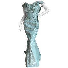 Rita Ora's Vivienne Westwood Gold Label Fishtail Mermaid Gown | From a collection of rare vintage evening dresses and gowns at https://www.1stdibs.com/fashion/clothing/evening-dresses/