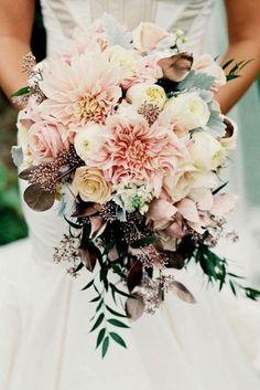 bohemian wedding blush bouquets 2 #OctoberWeddingIdeas