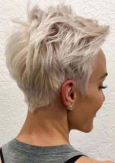 Hair Beauty - Short-Blonde-Pixie-Haircut Best Pixie Cuts for Blonde Hair Blonde Pixie Haircut, Messy Pixie Haircut, Short Blonde Pixie, Short Pixie Haircuts, Short Hairstyles For Women, Blonde Hair, Trendy Hairstyles, Messy Short Hairstyles, Hairstyles Haircuts