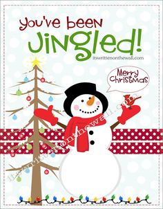 It's Written on the Wall: Christmas You've Been Jingled + Cute Way to Package Treats for Neighbor Gifts, Family