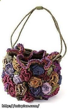 Crochet Bags 1000 and 1 model knitted bags))). Discussion on LiveInternet - Russian Service Online Diaries - Bag Crochet, Crochet Shell Stitch, Freeform Crochet, Crochet Handbags, Crochet Purses, Crochet Crafts, Boho Bags, Knitted Bags, Crochet Accessories