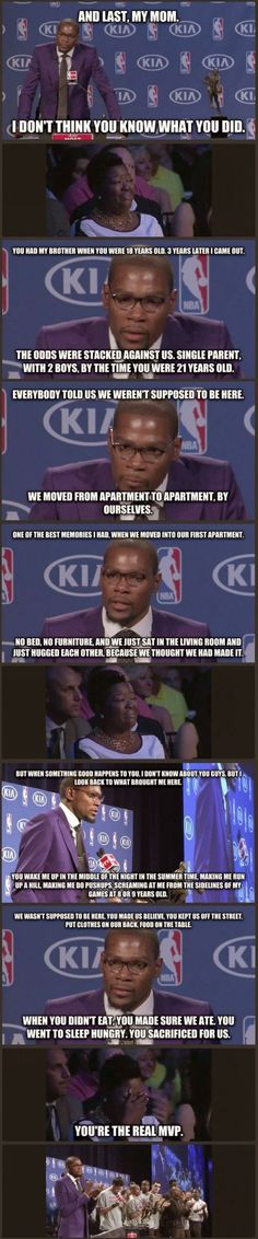 "Kevin Durant is the biggest softie of the nba, I didn't hear him say ""I"" once in…"