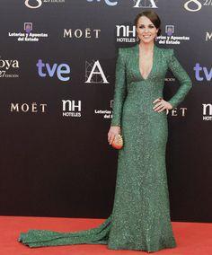 Dolores Promesas Heaven firma el precioso vestido verde que Paula Echevarría eligió para asistir a los Goya.