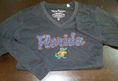 Florida Gator Collegiate Long sleeve Womens Top Size M Three Square w Thumb hole