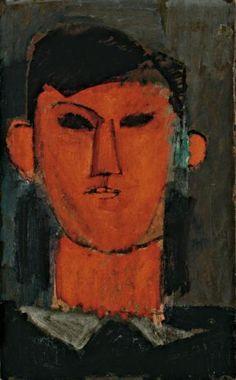 Retrato de Pablo Picasso (Portrait de Pablo Picasso), 43,2 x 26,7 cm, óleo sobre cartão.