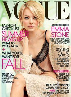 Models:                          Emma Stone                                                                      Magazine:                          Vogue US                                                                      Photographer:                          Mario Testino