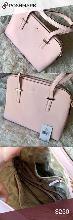 Kate spade ballet slipper cedar street maise purse Satchel with strap to become cross body, beautiful millennial pink color! Perfect for any season! Plenty of room for all your stuff. One of the most popular bags and this color was sold out! It's stunning! kate spade Bags Satchels