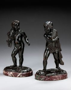 Pair of Mid-19th Century Italian Bronze Figures (Ref No. 5448a) - Windsor House…