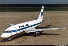 "Pan American World Airways Boeing 737-275/Adv N381PA ""Clipper Wedding"" on the apron at Nürnberg-International, September 1982. (Photo: Gerhard Plomitzer)"