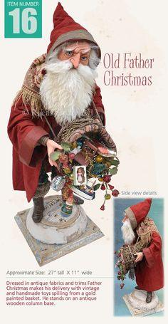 The Holiday Aisle Santa with Gift Bag and Snowshoes Christmas Makes, Father Christmas, Christmas And New Year, All Things Christmas, Xmas, Christmas 2017, Christmas Ideas, Christmas Tree, Christmas Ornaments