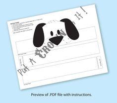 Puppy Black & White Crown Printable por PutACrownOnIt en Etsy